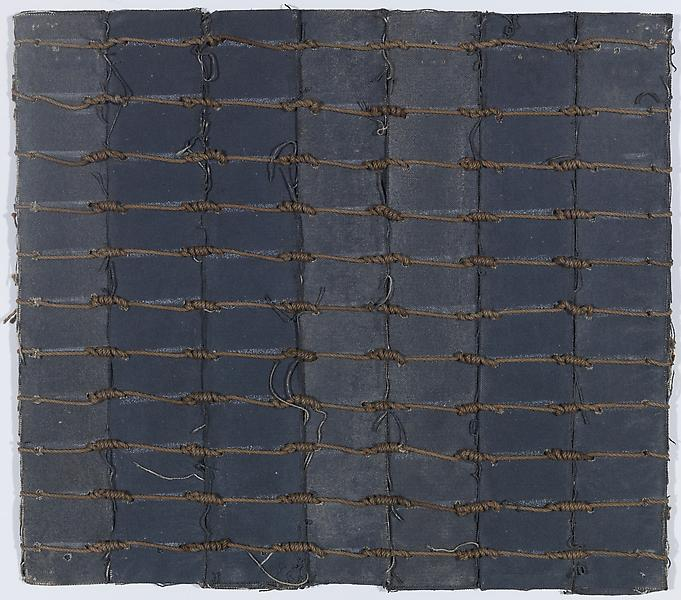 Louise Fishman 	UNTITLED 1971 	Acrylic on canvas with chalk and string 	12 x 13 1/2 inches 	30.5 x 34.3 centimeters
