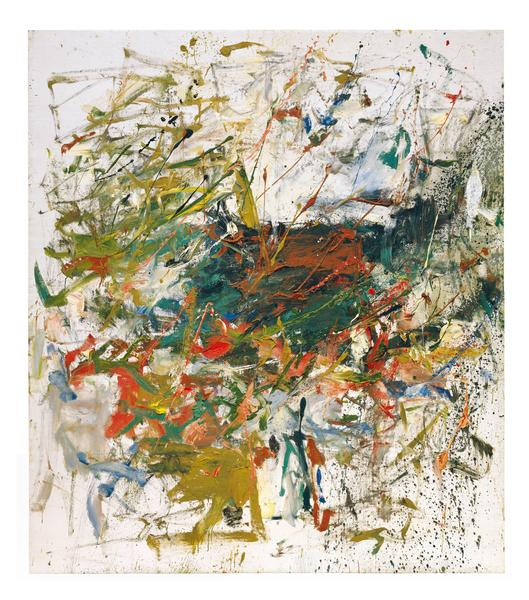 Joan Mitchell 	UNTITLED  1960 	Oil on canvas 	78 x 69 inches 	198.1 x 175.3 centimeters 	©Estate of Joan Mitchell