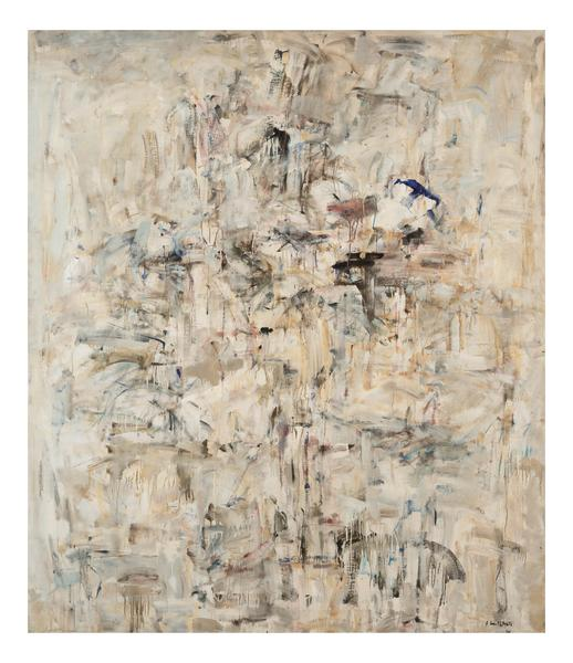 Joan Mitchell 	UNTITLED  1953-54 	Oil on canvas 	81 x 69 inches 	205.7 x 175.3 centimeters 	©Estate of Joan Mitchell