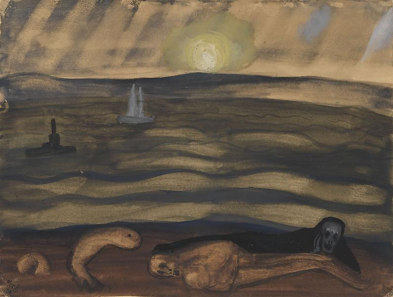 Alice Neel (1900 - 1984) REQUIEM, 1928 Watercolor on paper 9 x 12 inches 22.9 x 30.5 centimeters