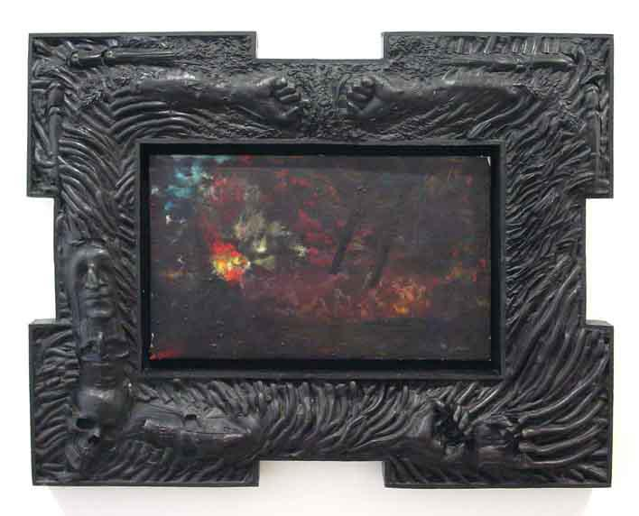 Robert Morris 	UNTITLED, 1985-1986 	Encaustic, lead, bronze 	39 1/2 x 50 inches 	100.3 x 127 centimeters