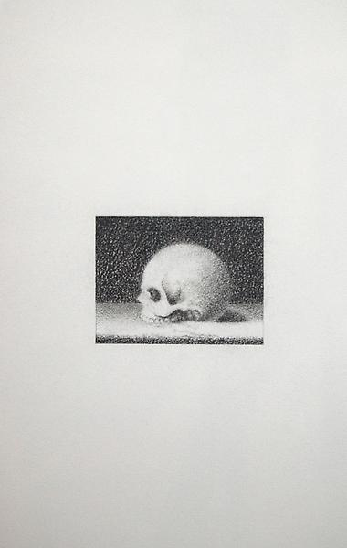 Roland Flexner 	UNTITLED, 1995 	Graphite on paper 	2.17 x 1.57 inches 	5.5 x 4 centimeters 	11.81 x 14.96 inches 	30 x 38 centimeters