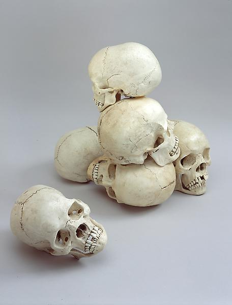 Tony Matelli 	SAD SKULLS, 2003 	Polysterene 	Dimensions variable
