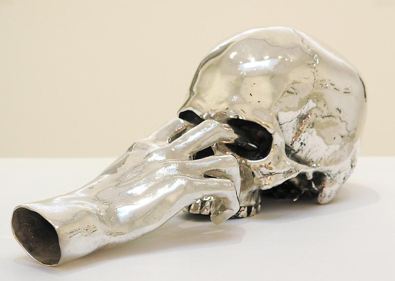 Jan Van Oost 	SALOME, 1990 	Cast silver 	5.91 x 5.91 x 11.81 inches 	15 x 15 x 30 centimeters