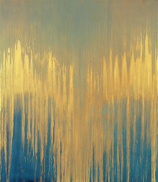 Pat Steir 	SUNSPOTS II, 2007 	Oil on canvas 	127 1/4 x 109 1/4 inches 	323.2 x 277.5 centimeters
