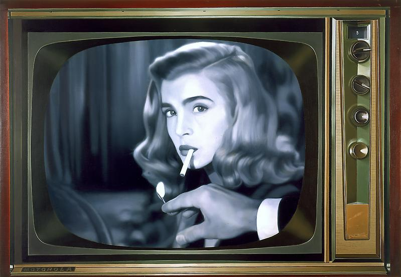 McDermott & McGough 	LATE NIGHT #3: LIZABETH SCOTT, 1967. 2007 	Oil on linen 	25 x 36 inches 	63.5 x 91.4 centimeters