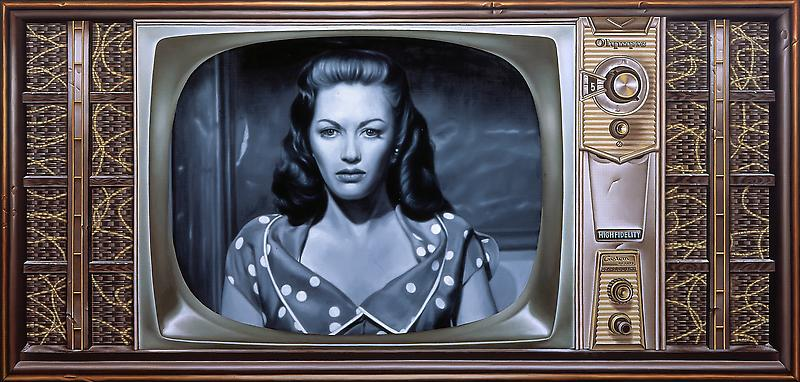 McDermott & McGough 	LATE NIGHT #7: YVONNE DeCARLO, 1967. 2008 	Oil on linen 	21 x 48 inches 	53.3 x 121.9 centimeters