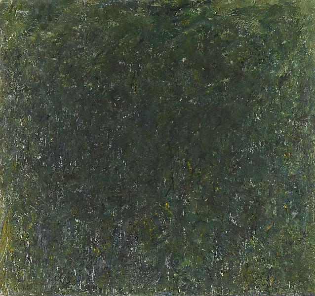 Milton Resnick (1917 - 2004) 	GRASS 1981 	Oil on canvas 	76 x 80 inches 	193 x 203.2 centimeters