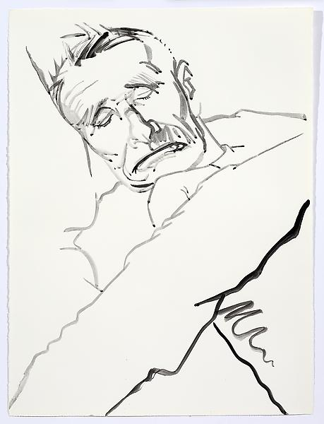 Don Bachardy UNTITLED V, 29 DECEMBER 1985 Acrylic on paper 30 1/8 x 22 1/8 inches 76.5 x 56.2 centimeters