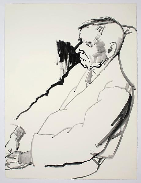 Don Bachardy UNTITLED V, 4 DECEMBER 1985 Acrylic on paper 30 1/8 x 22 1/2 inches 76.5 x 57.2 centimeters