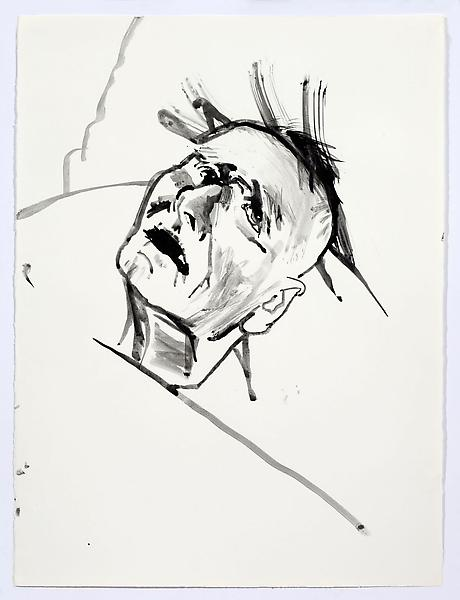 Don Bachardy UNTITLED VI, 4 JANUARY 1986 Acrylic on paper 30 1/8 x 22 1/2 inches 76.5 x 57.2 centimeters