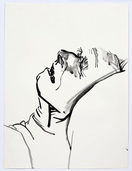 Don Bachardy UNTITLED III, 3 JANUARY 1986 Acrylic on paper 30 1/8 x 22 1/2 inches 76.5 x 57.2 centimeters