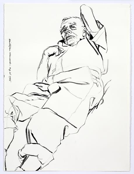 Don Bachardy UNTITLED V, AUGUST 26 1985 Acrylic on paper 30 x 22 3/8 inches 76.2 x 56.8 centimeters