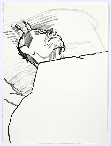 Don Bachardy UNTITLED III, 1 JANUARY 1986 Acrylic on paper 30 1/8 x 22 3/8 inches 76.5 x 56.8 centimeters