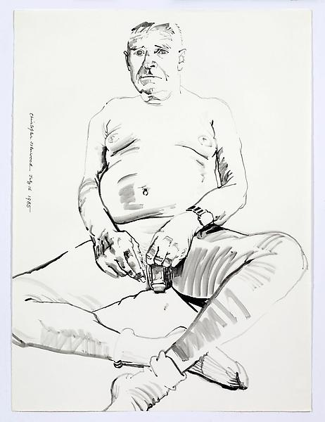 Don Bachardy UNTITLED I, JULY 16 1985 Acrylic on paper 30 1/8 x 22 3/8 inches 76.5 x 56.8 centimeters