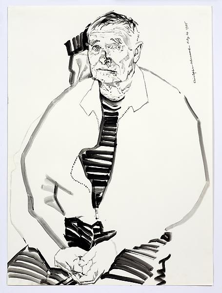 Don Bachardy UNTITLED II, JULY 24 1985 Acrylic on paper 30 1/8 x 22 1/8 inches 76.5 x 56.2 centimeters