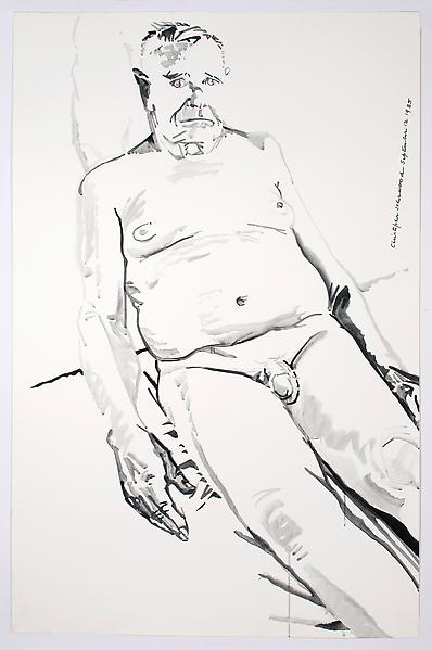 Don Bachardy UNTITLED II, SEPTEMBER 12 1985 Acrylic on paper 40 x 26 1/8 inches 101.6 x 66.4 centimeters