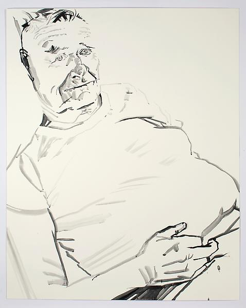 Don Bachardy UNTITLED I, 19 SEPTEMBER 1985 Acrylic on paper 40 1/4 x 32 1/8 inches 102.2 x 81.6 centimeters