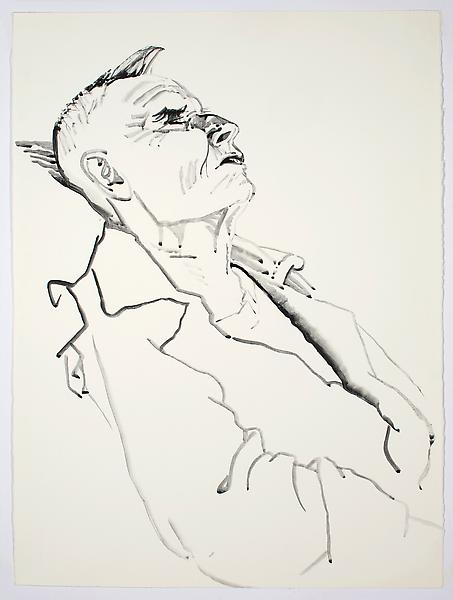 Don Bachardy UNTITLED II, 30 NOVEMBER 1985 Acrylic on paper 30 x 22 3/8 inches 76.2 x 56.8 centimeters