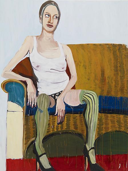Chantal Joffe KRISTEN 2008 Oil on board 96 x 72 inches 243.8 x 182.9 centimeters