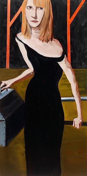 Chantal Joffe YVONNE 2009 Oil on board 120 x 60 inches 304.8 x 152.4 centimeters