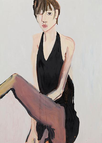 Chantal Joffe SPIDER 2009 Oil on board 84 x 60 inches 213.4 x 152.4 centimeters