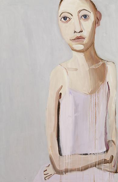 Chantal Joffe KELSEY 2009 Oil on board 84 x 55 inches 213.4 x 139.7 centimeters