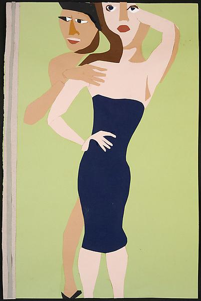 Chantal Joffe COUPLE 2009 Collage on paper 19 3/4 x 13 inches 50 x 32.8 centimeters