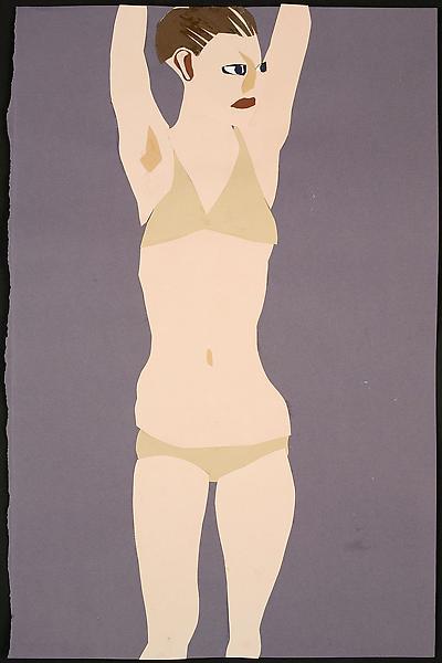 Chantal Joffe BIKINI WOMAN 2009 Collage on paper 19 3/4 x 12 3/4 inches 50 x 32.5 centimeters