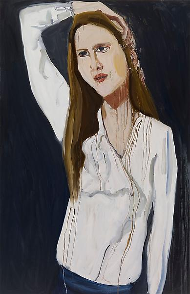 Chantal Joffe CAREER GIRL 2009 Oil on board 84 x 48 inches 213.4 x 121.9 centimeters