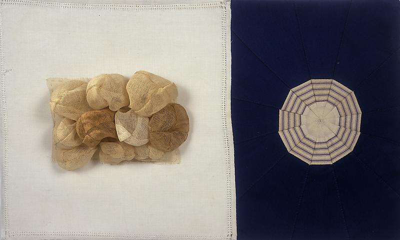 Louise Bourgeois UNTITLED 2006 Fabric and fabric collage 11 x 18 1/4 x 2 inches 27.9 x 46.4 x 5.1 centimeters