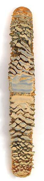 Lynda Benglis 	UNTITLED 1972 	Beeswax, damar resin and pigment on wood 	36 x 5 7/8 x 3 1/4 inches 	91.4 x 14.9 x 8.3 centimeters
