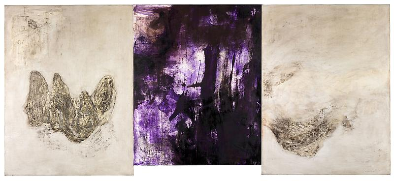 Bill Jensen THE TRINITY 2010-11 Oil on linen, triptych 53 x 120 inches overall 134.6 x 304.8 centimeters overall
