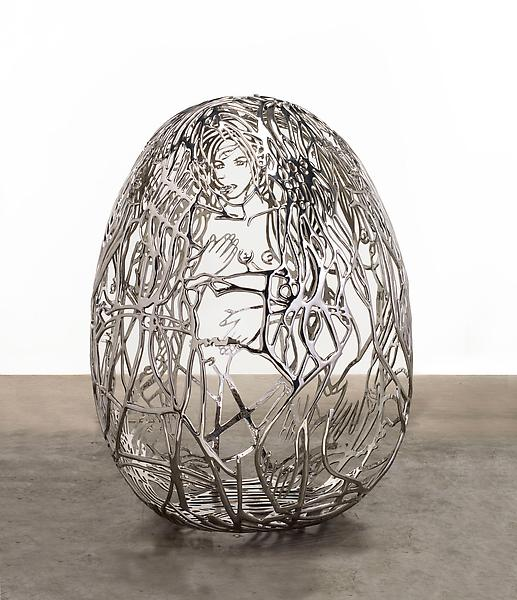 Ghada Amer 	BLUE BRA GIRLS 2012 	Stainless steel 	73 x 60 x 54 inches 	185.4 x 152.4 x 137.2 centimeters