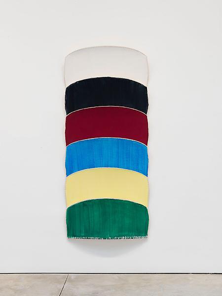Ron Gorchov PEGASI 2012 Oil on linen 74 x 36 x 9 inches 188 x 91.4 x 22.9 centimeters