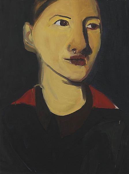 Chantal Joffe BEATRICE 2007 Oil on canvas 24 x 17 inches 61 x 43.2 centimeters