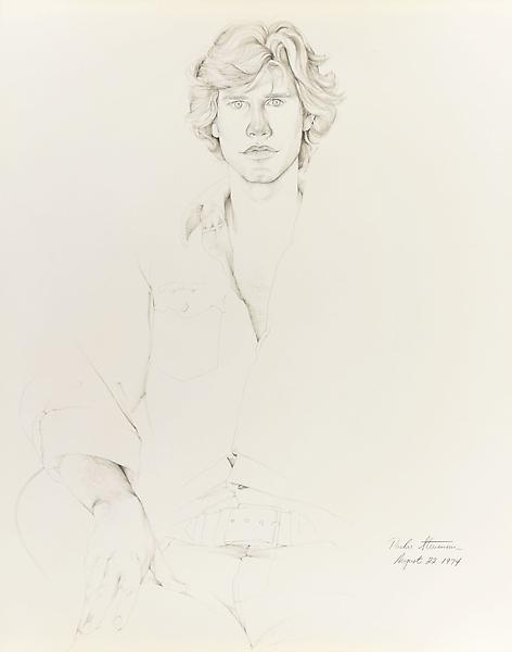 Don Bachardy PARKER STEVENSON, 22 AUGUST 74 1974 Pencil and ink wash on paper 29 x 23 inches 73.7 x 58.4 centimeters