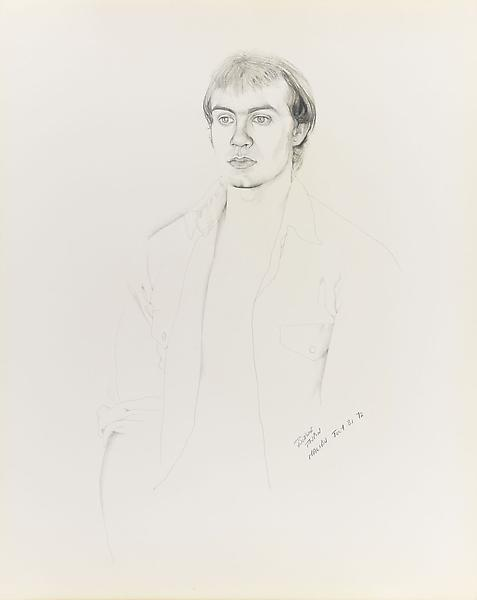 Don Bachardy 	BERNIE TAUPIN, 31 JULY 72 1972 	Pencil and ink wash on paper 	29 x 23 inches 	73.7 x 58.4 centimeters