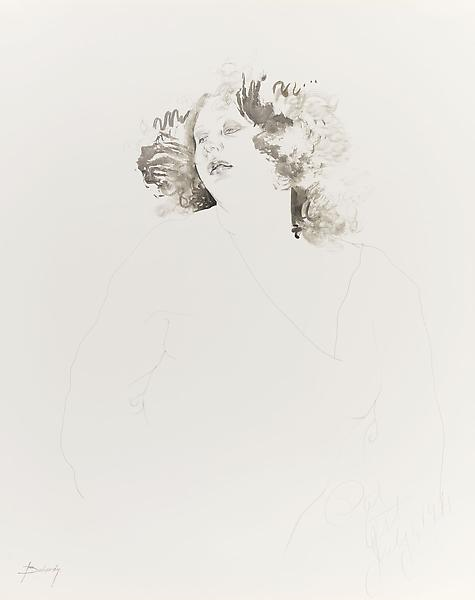 Don Bachardy PAT AST, 1 JULY 71 1971 Pencil and ink wash on paper 29 x 23 inches 73.7 x 58.4 centimeters