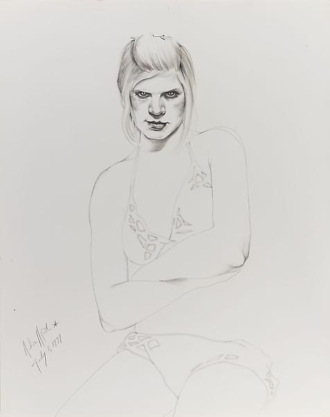 Don Bachardy ANDREA APRIL, 7 JULY 71 1971 Pencil and ink wash on paper 29 x 23 inches 73.7 x 58.4 centimeters