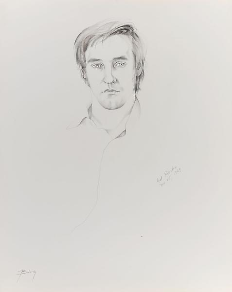 Don Bachardy ED RUSCHA, 25 NOVEMBER 79 1979 Pen and ink wash on paper 29 x 23 inches 73.7 x 58.4 centimeters