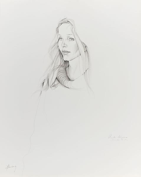 Don Bachardy 	BROOKE HOPPER, 17 DECEMBER 69 1969 	Pencil and ink wash on paper 	29 x 23 inches 	73.7 x 58.4 centimeters
