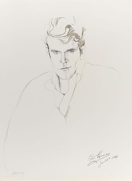 Don Bachardy DON MURRAY, 28 JANUARY 66 1966 Pencil and ink wash on paper 30 x 22 inches 76.2 x 55.9 centimeters