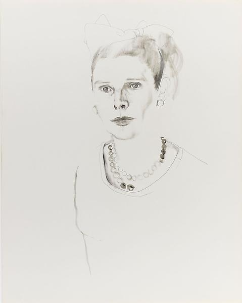 Don Bachardy RUTH GORDON, 65 1965 Pencil and ink wash on paper 28 1/2 x 22 1/2 inches 72.4 x 57.2 centimeters