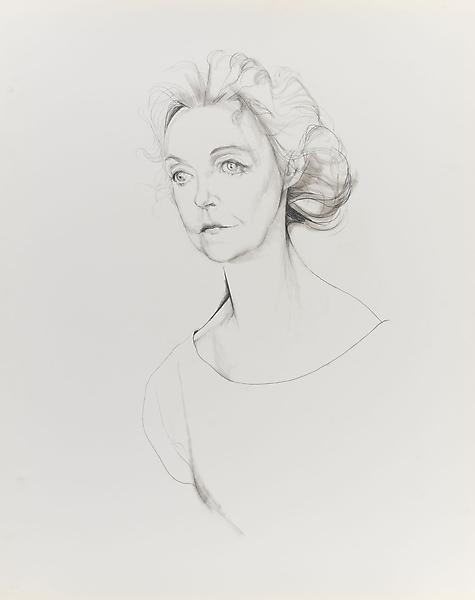 Don Bachardy LILLIAN GISH, 3 FEBRUARY 65 1965 Pencil and ink wash on paper 29 x 23 inches 73.7 x 58.4 centimeters