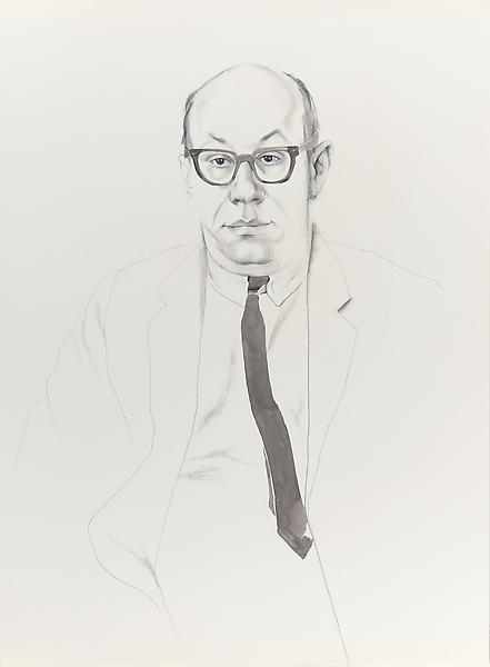 Don Bachardy 	RICHARD DEACON, 65 1965 	Pencil and ink wash on paper 	30 x 22 inches 	76.2 x 55.9 centimeters