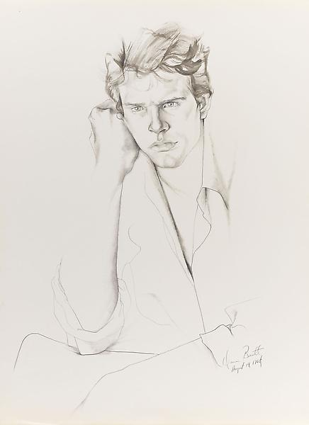 Don Bachardy 	WARREN BEATTY, 14 AUGUST 65 1965 	Pencil and ink wash on paper 	30 x 22 inches 	76.2 x 55.9 centimeters