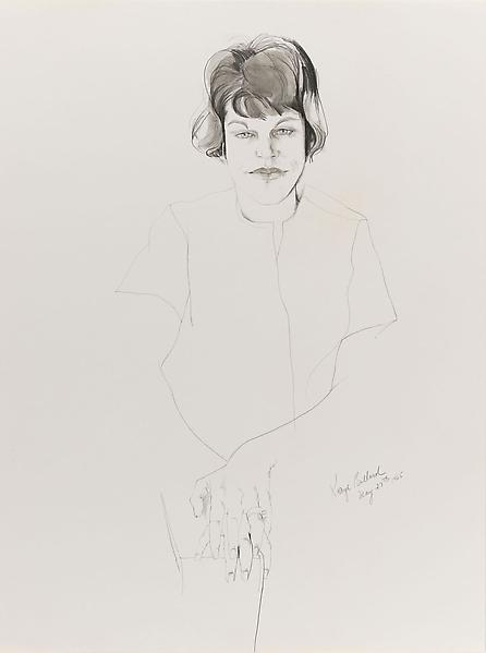 Don Bachardy 	KAYE BALLARD, 27 MAY 65 1965 	Pencil and ink wash on paper 	24 x 18 inches 	61 x 45.7 centimeters