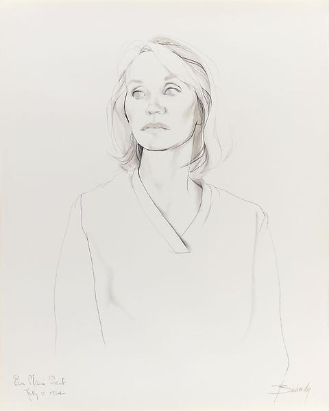 Don Bachardy EVA MARIE SAINT, 8 JULY 64 1964 Pencil and ink wash on paper 29 x 23 inches 73.7 x 58.4 centimeters