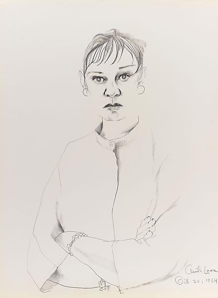 Don Bachardy 	ANITA LOOS, 20 OCTOBER 64 1964 	Pencil and ink wash on paper 	30 x 22 inches 	76.2 x 55.9 centimeters
